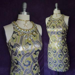 Lilly Pulitzer Pearl dress Kelp vintage brocade